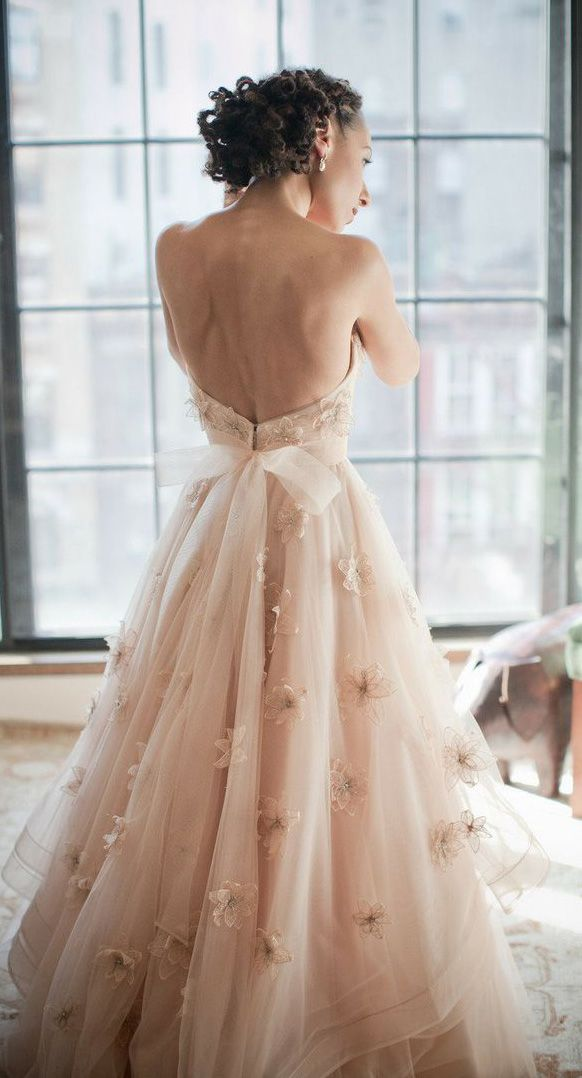 Pink and Gold Wedding Gowns