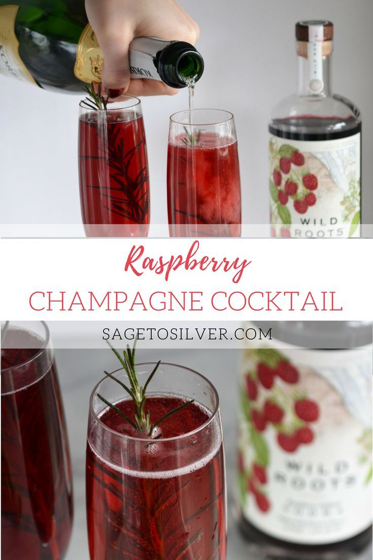 Raspberry Champagne Cocktail Champagne Drinks Vodka Cocktails Champagne Cocktail