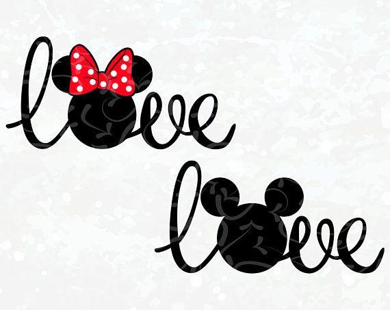 Download Disney SVG - Mickey Minnie Head Love SVG - Mickey Minnie ...