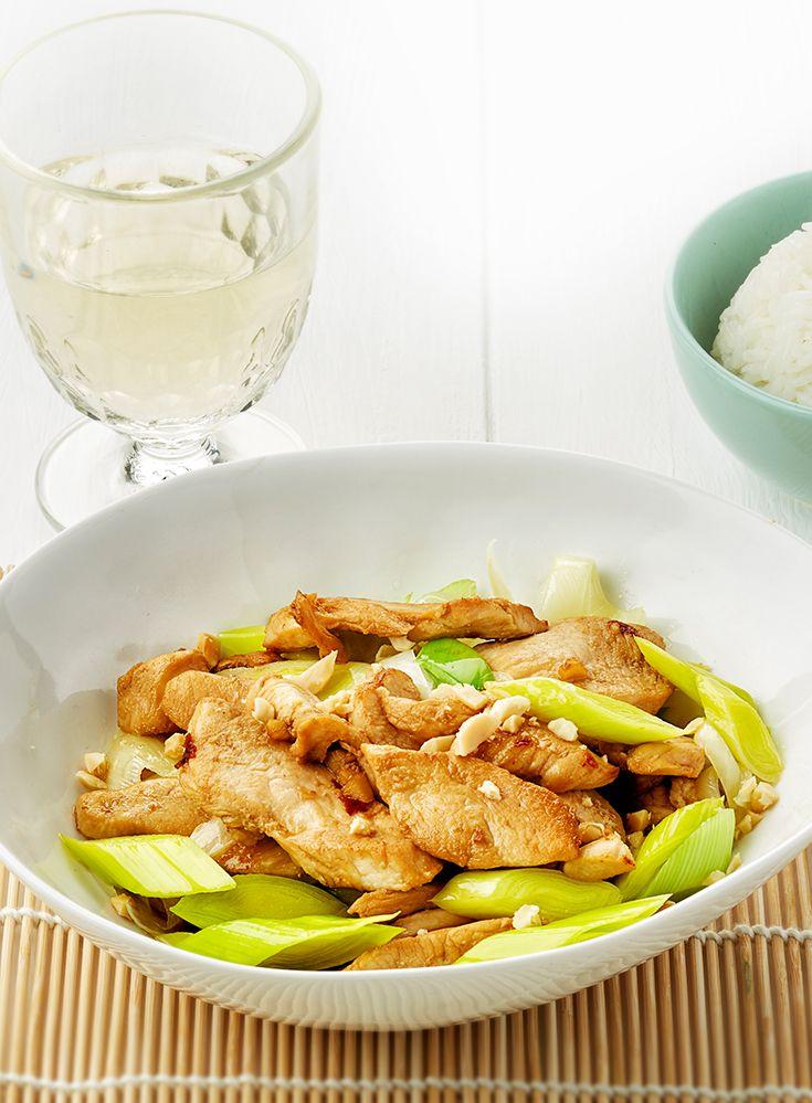 kipgerechten wok