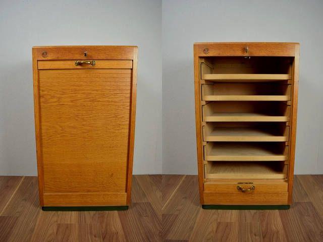 Vintage File Cabinet Dobergo Furniture 60s Germany Aktenschrank Dateien Organisieren Schrank