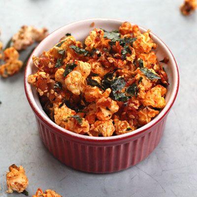 savory kimchi popcorn