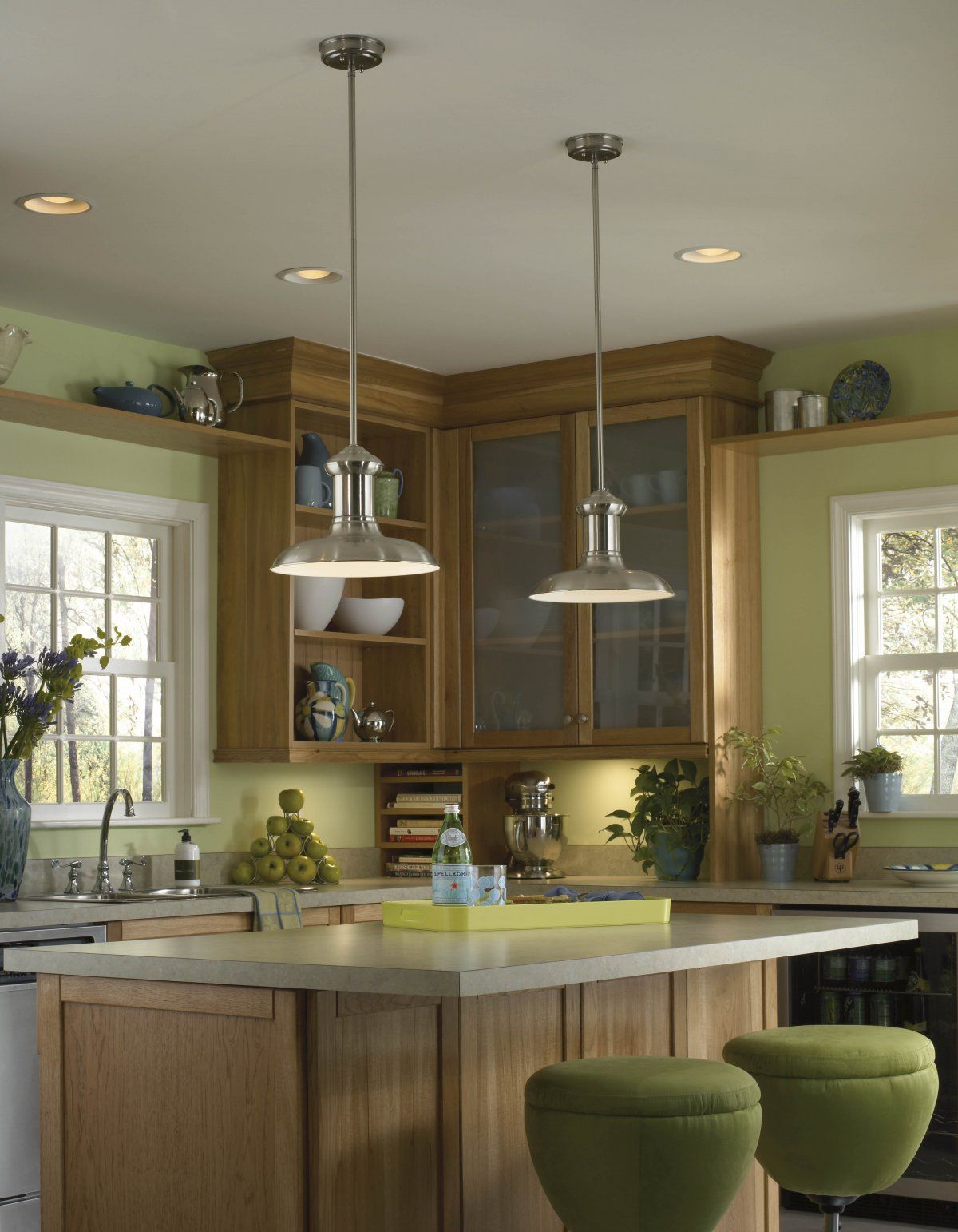 Kitchen Inspiration color palate Great Two Funnel Pendant