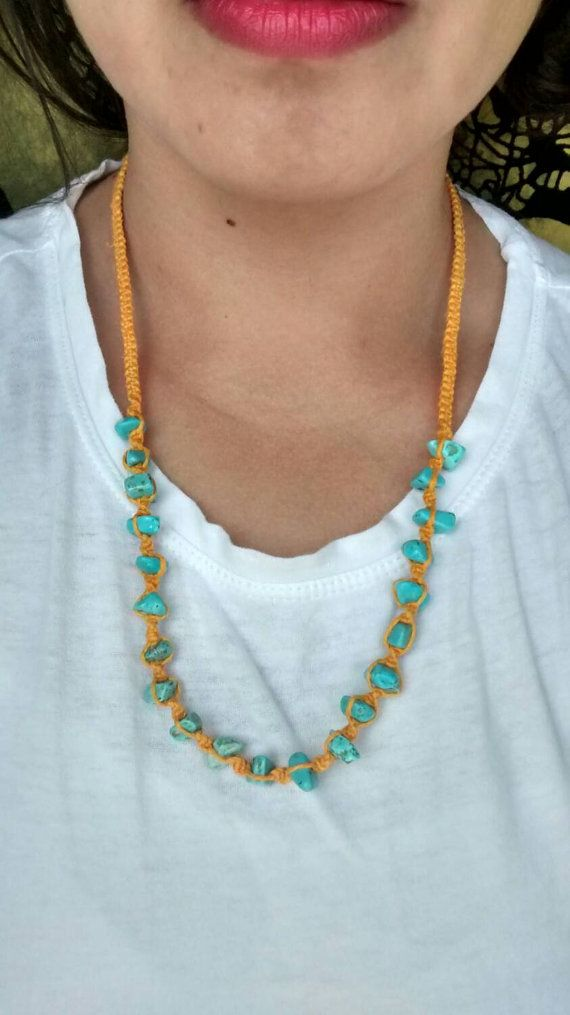 Orange hemp necklace https://www.etsy.com/listing/230064128/long-orange-hemp-necklace-with-blue