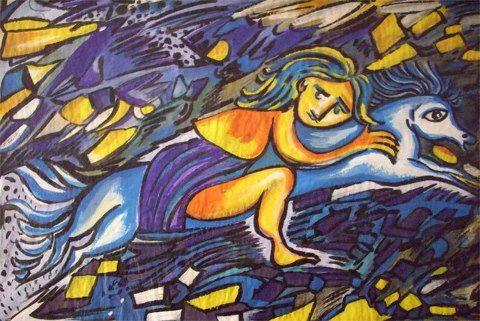 """Arte by """"Bela Assis"""" Acrílico sobre papel País -Portugal"""