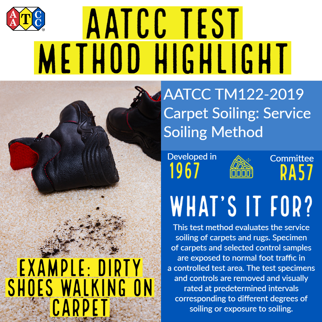 Aatcc Test Method Highlight Aatcc Tm122 2019 Carpet Soiling Service Soiling Method This Test Method Evaluates In 2020 Rugs On Carpet How To Remove The Selection