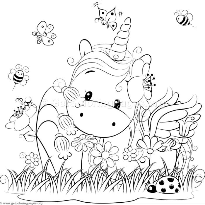 Cute Unicorn 3 Coloring Pages | drucken | Pinterest | Unicornios ...