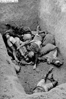 Photographic documentation of Nazi crimes. Mass grave of Jewish women.