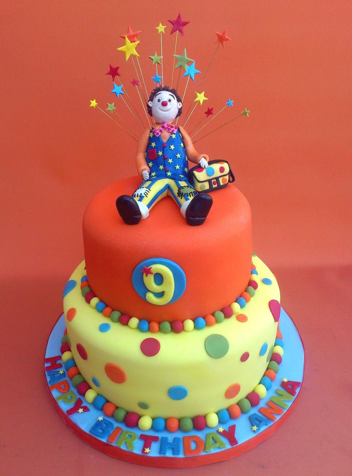 Mr Tumble Inspired Novelty 2 Tier Birthday Cake Sponge Poole Dorset