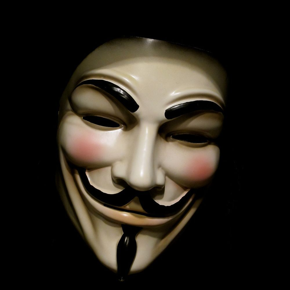 Details about V for Vendetta Mask Adult Mens Guy Fawkes Anonymous ...