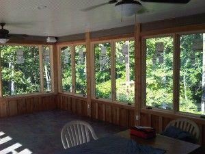screen porch window inserts vinyl screenedporchinwinter converting screen porch to year round room