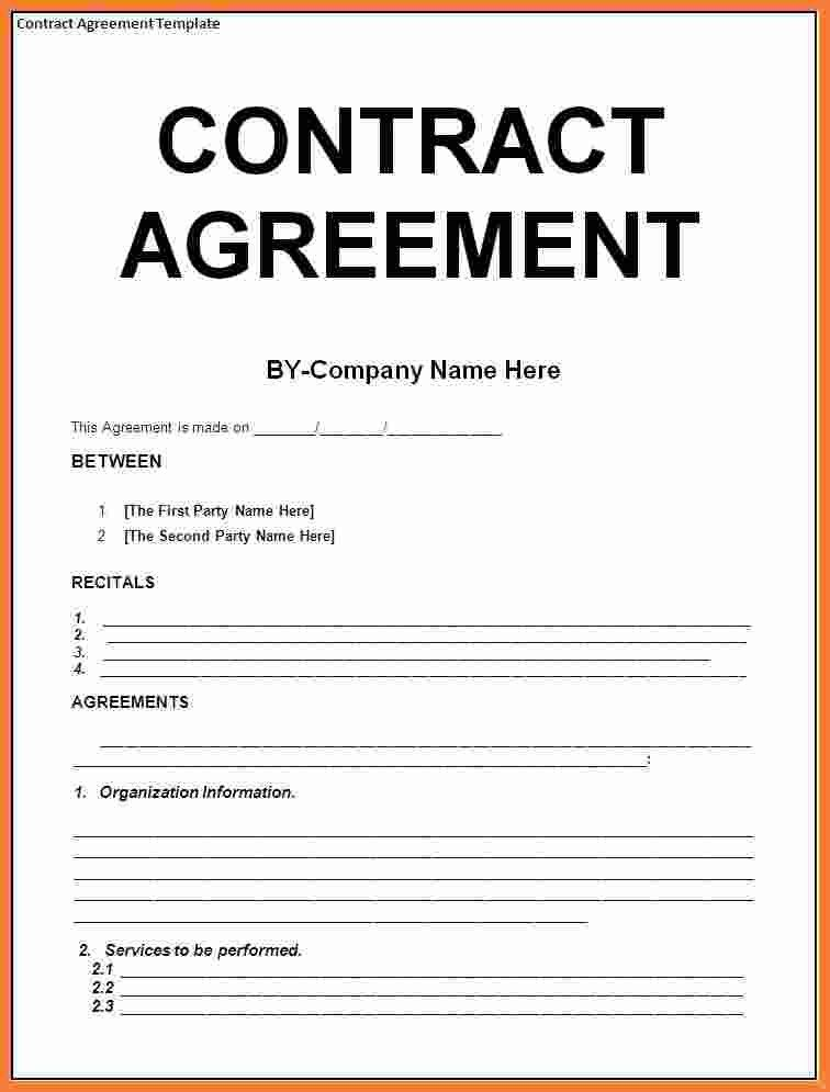 23 free contractor agreement template in 2020 contract