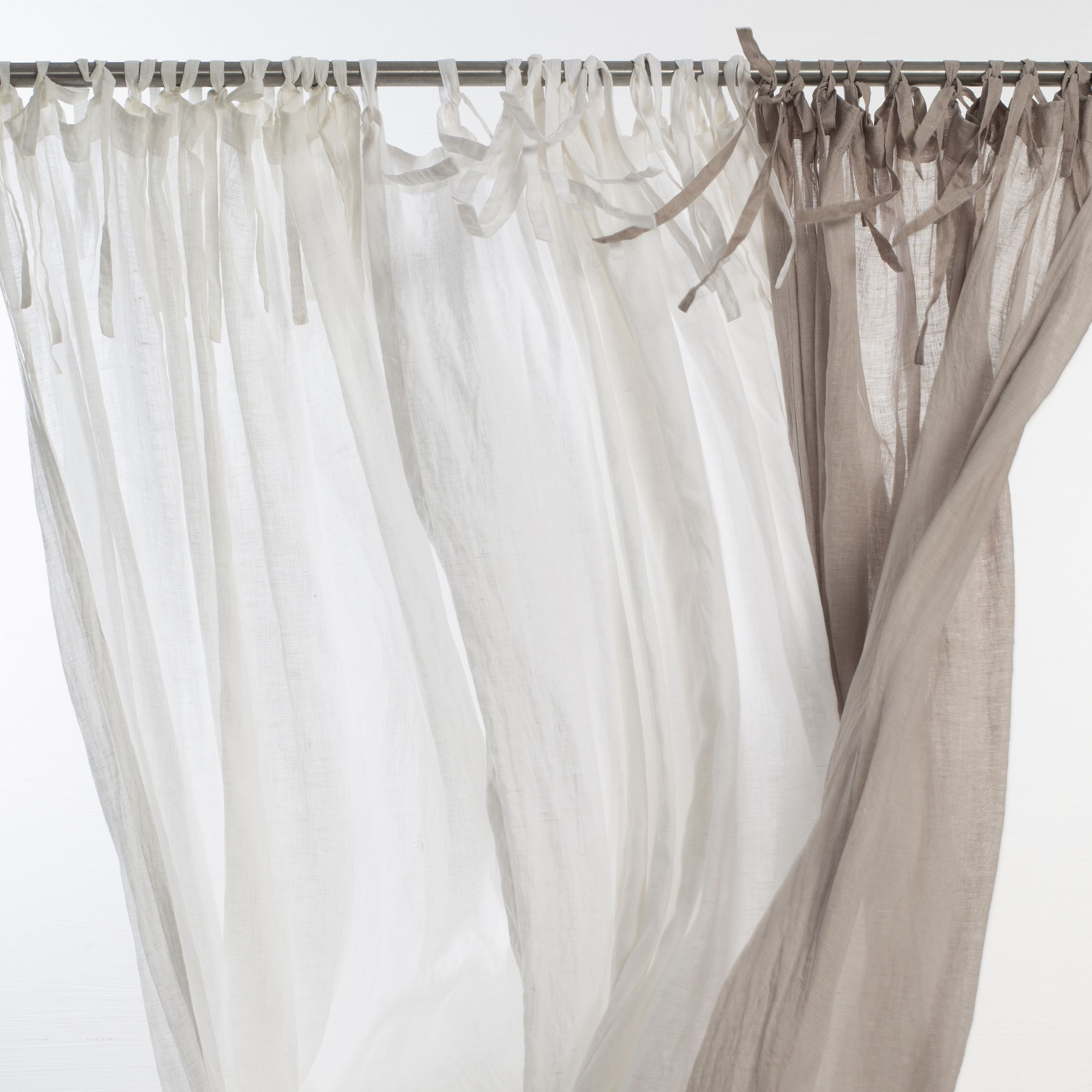 Sheer Linen Curtains Window Curtains With Ties Sheer Drapes Tie