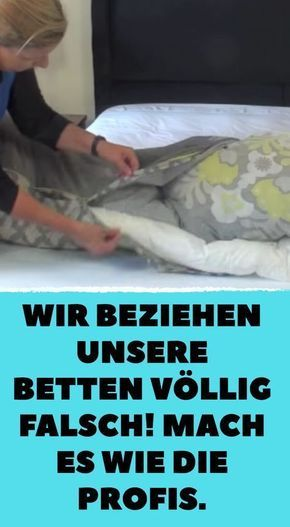 """Betten mit """"Rollmops-Trick"""" schneller beziehen."""