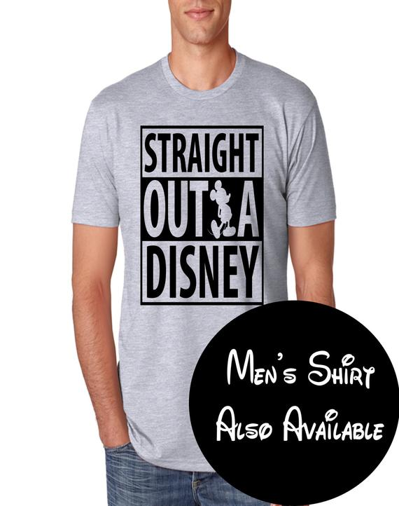 62cb2e557 CLEARANCE EVENT Straight Outta Disney Funny Disney Shirt Featuring  Silhouette of Mickey Mouse - Make