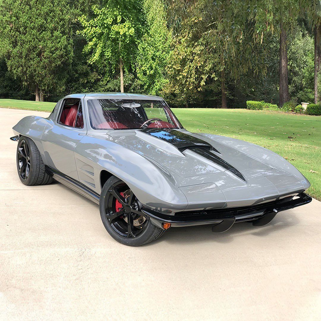 "Barrett-Jackson on Instagram: ""Would you say this custom '63 @chevrolet @corvette is a show-winner? Powered by a 5.7-liter LS1 V8 engine with a 4L60E automatic…"""