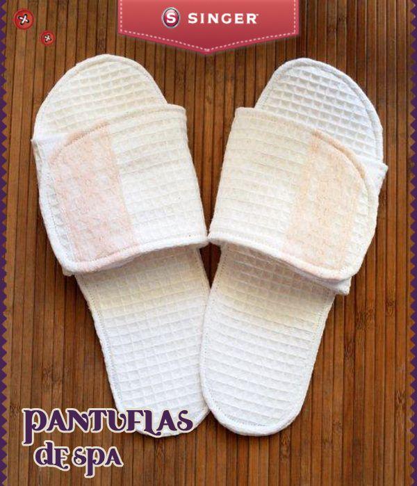 Pantuflas de spa #Singer #yolohice #lindo #hogar