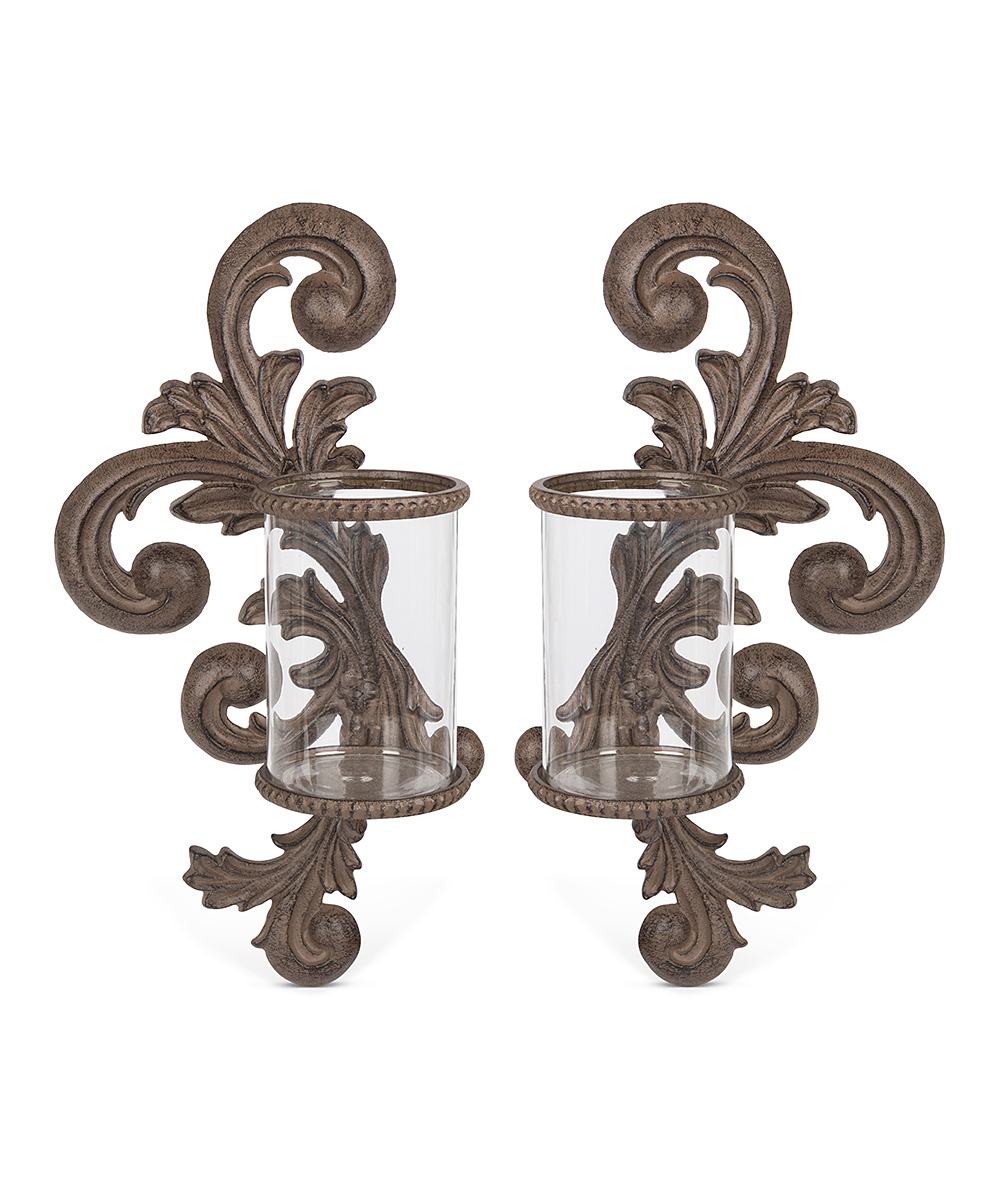 The Gg Collection Acanthus Scroll Candleholder Sconce Set Of Two Zulily Gg Collection Candle Holders Sconces