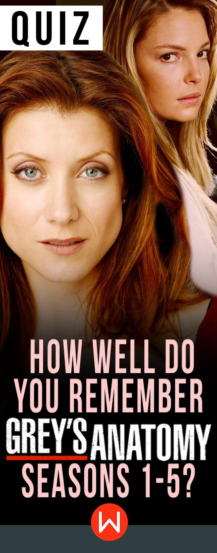 Quiz: How Well Do You Remember Grey\'s Anatomy Seasons 1-5? | Trivia ...