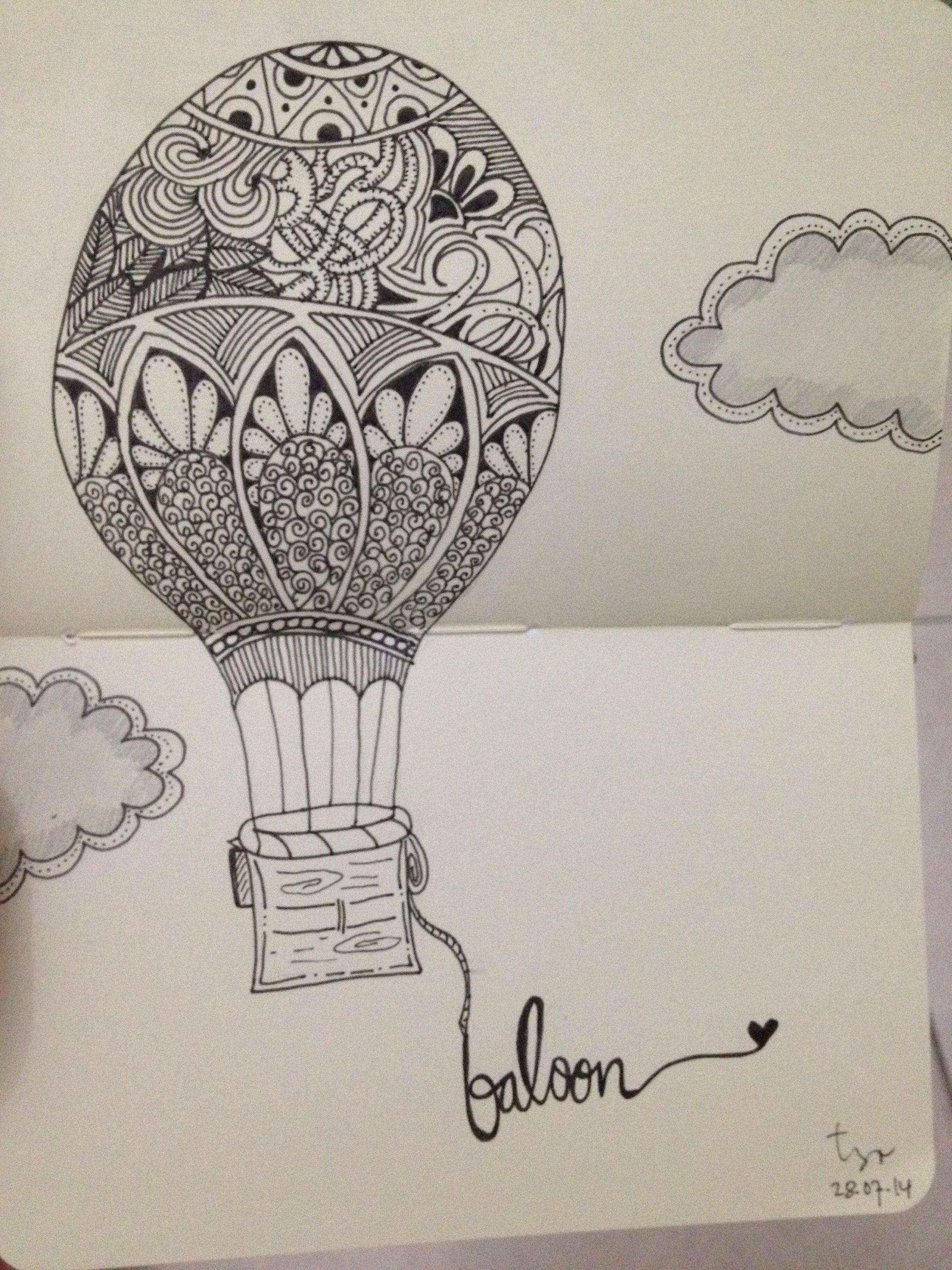 Gambar Sketsa Balon : gambar, sketsa, balon, Balon, Udara, Udara,