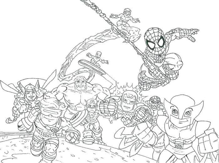 Super Hero Coloring Pages in 2020 (With images