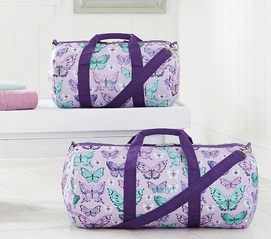 ae8c3d7ab114 Mackenzie Lavender Pretty Butterfly Duffle Bag
