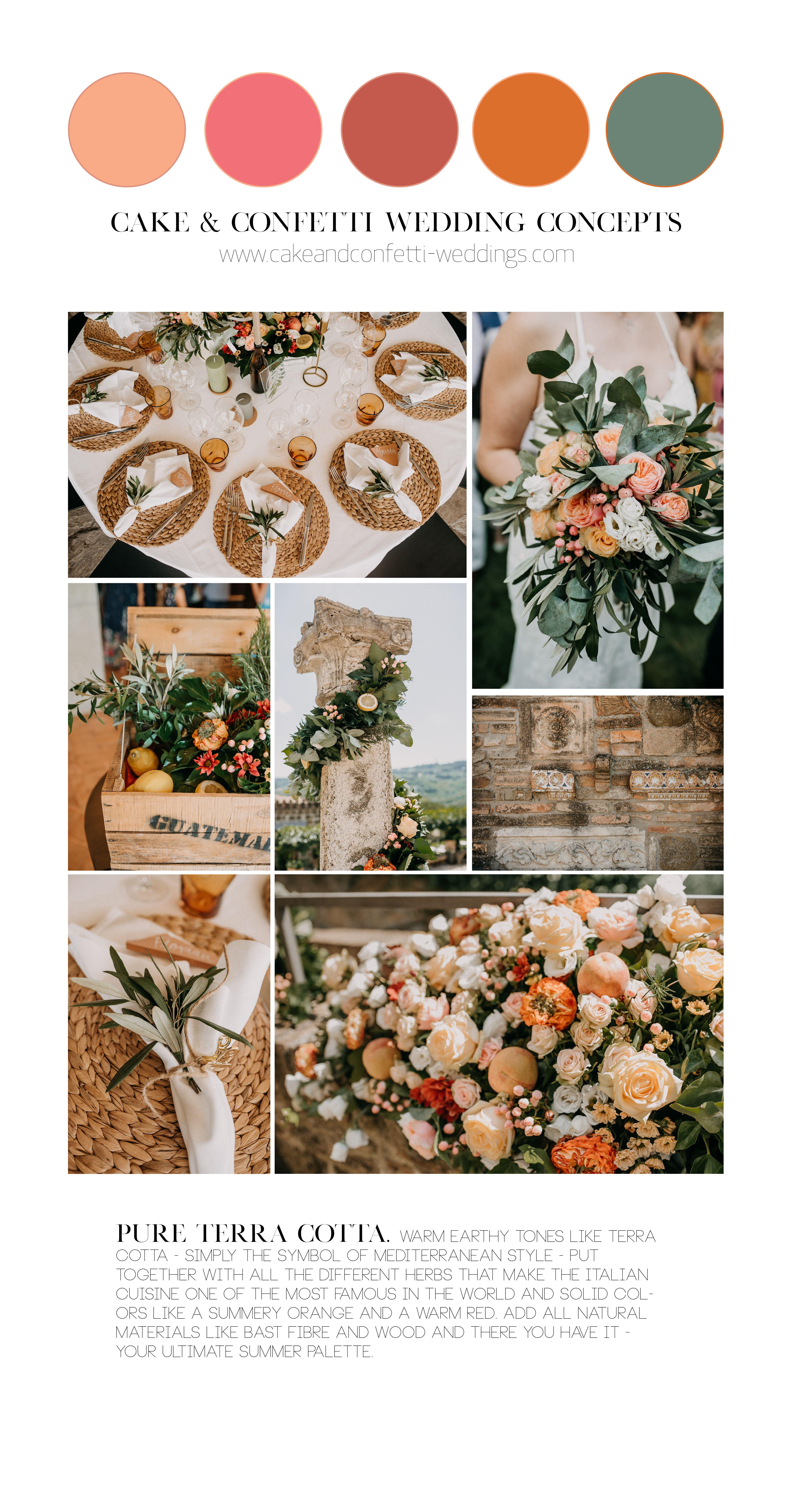 Pure Terra Cotta Wedding Color Palette Wedding Color Palette Orange Wedding Colors Earth Tone Wedding