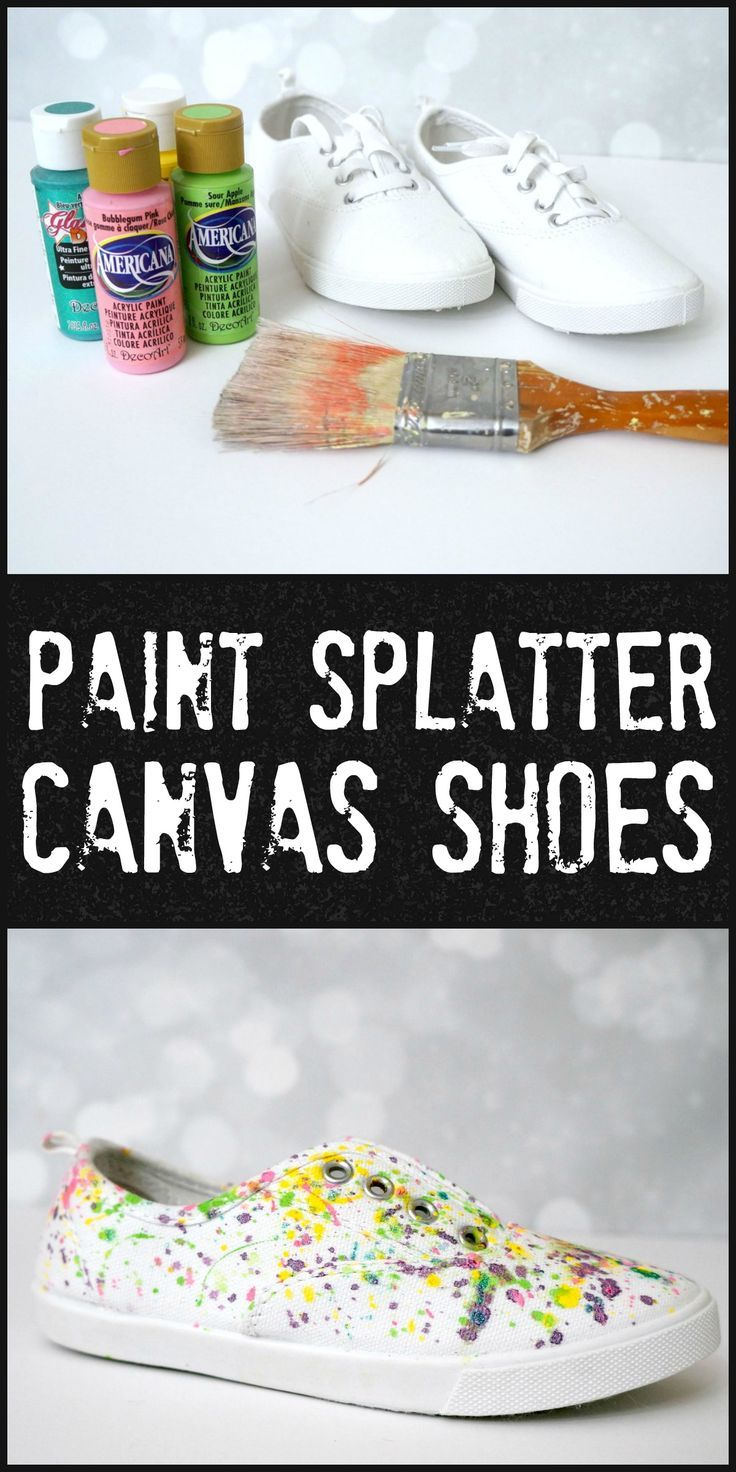 ca4542b8f36d5f Easy and wearable paint splatter canvas shoes