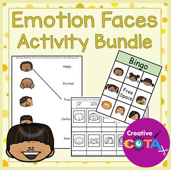 There are 8 activities (using 10 different emotions) in this bundle that  can be used with any self-regulation curriculum (Zones of Regulation™,  PBIS™, SEL™, ...