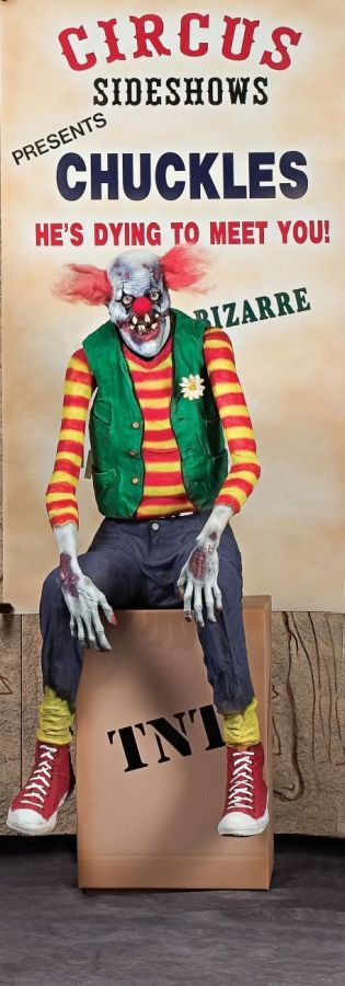 Awesome Halloween Props, Decor  Novelties Chuckles Clown Animated - halloween props decor