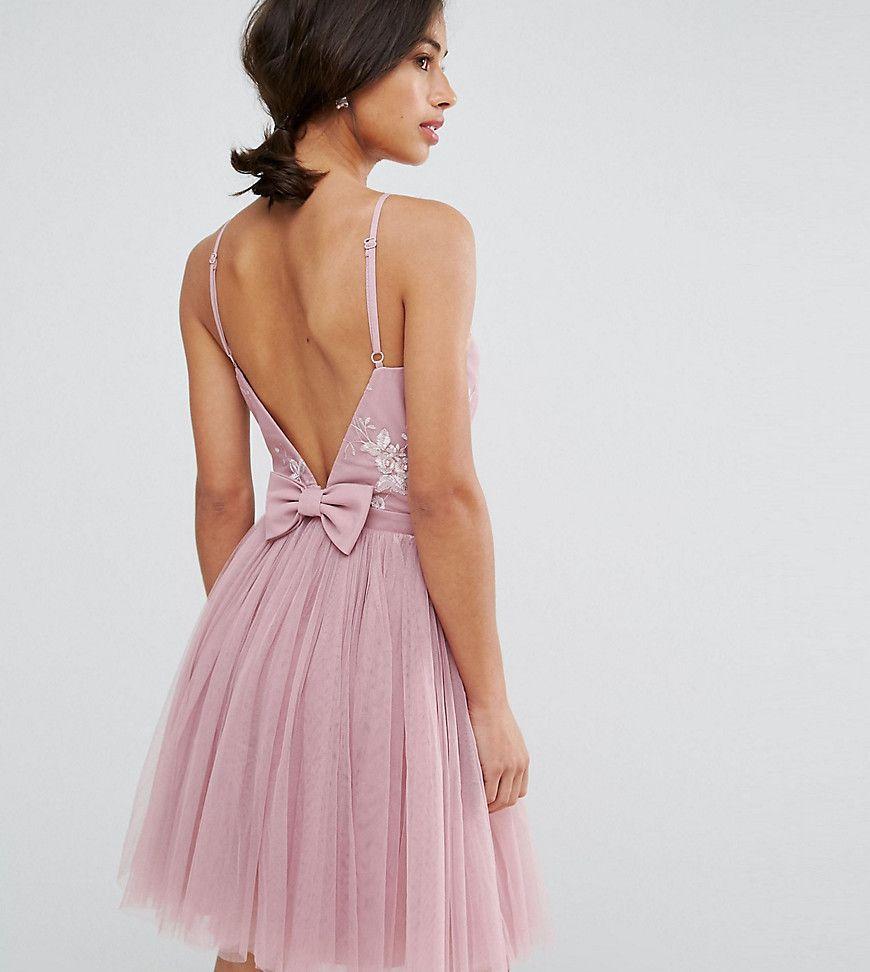 Little Mistress Nude Tulle Maxi Dress - Little Mistress