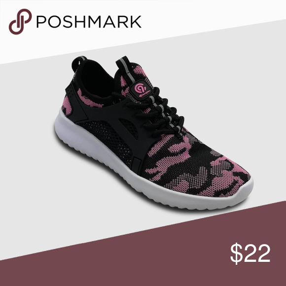 76ede83699428 Champion C9 Poise Speed Knit Pink Sneakers Size 1 Speed Knit Fabric Pink  and Black Camo Print Lace Up With Pull Tab Girls Size 1 Champion Shoes  Sneakers