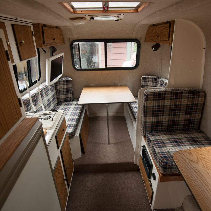 Inside Travel Trailers: View Down The Aisle. Scamp 16' Layout 6