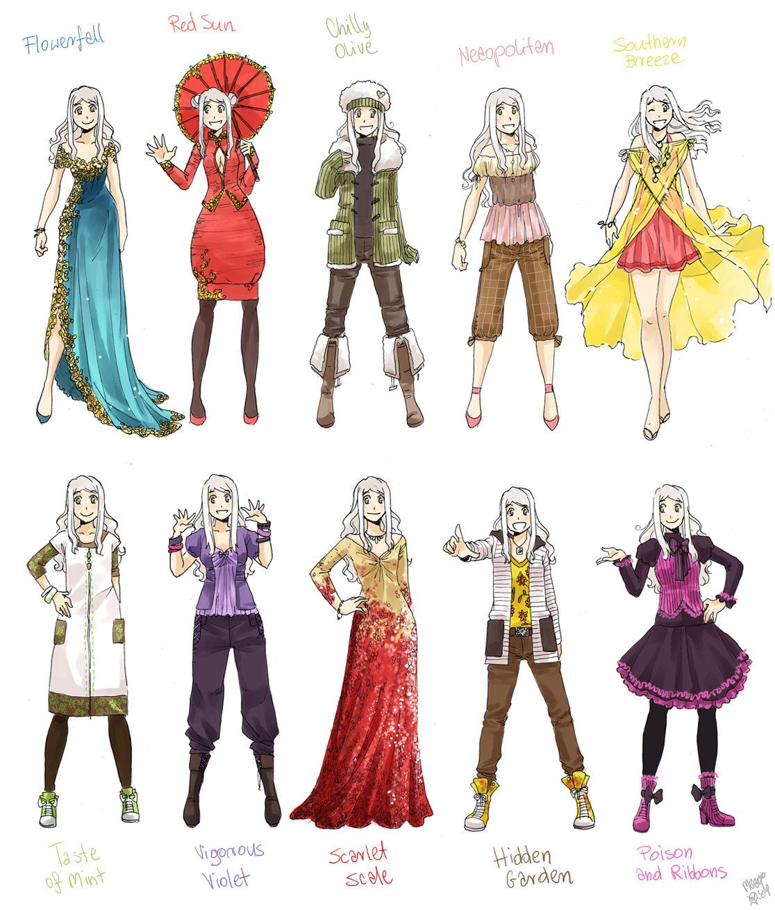 Various female clothes 8 by meago on DeviantArt Manga