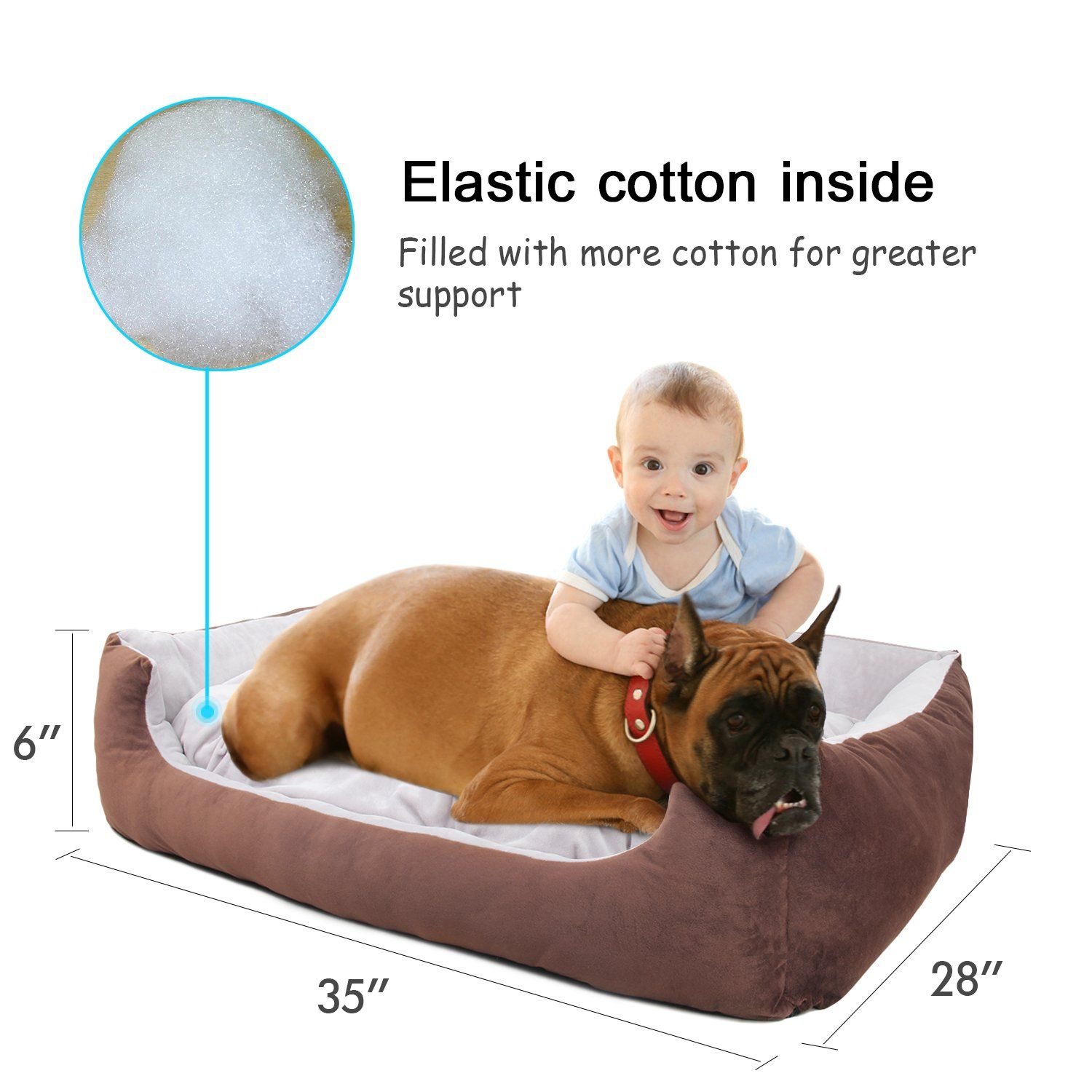 Willnorn Dog Bed For Large Dogs Clearance With Cover Removable Mat Water Resistant Bottom And Washable Ped Sofa Bed Couch L Lar Dog Bed Sofa Couch Bed Sofa Bed