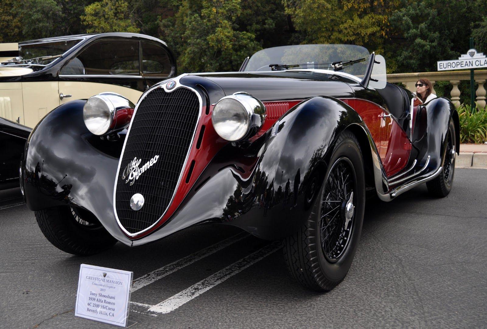 Sweeping Curves Of A 1939 Alfa Romeo 6c 2500 Super Sport Tipo 256