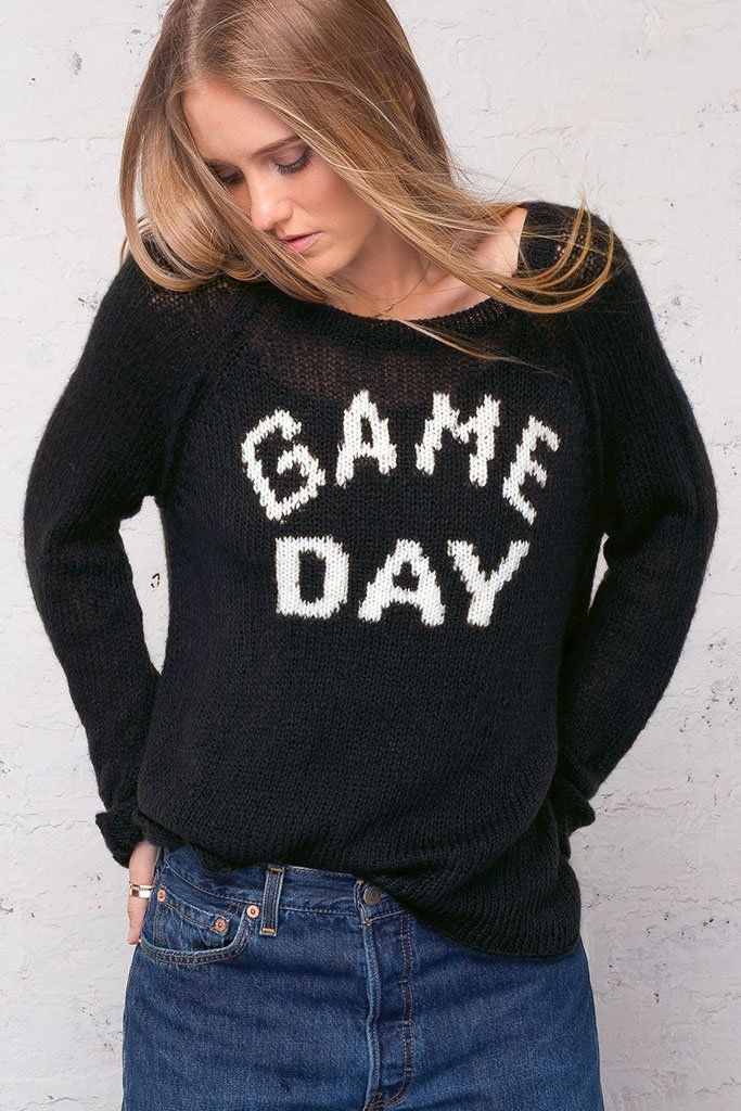 Wooden Ships Game Day Raglan Lightweight Sweater In Blackpure Snow