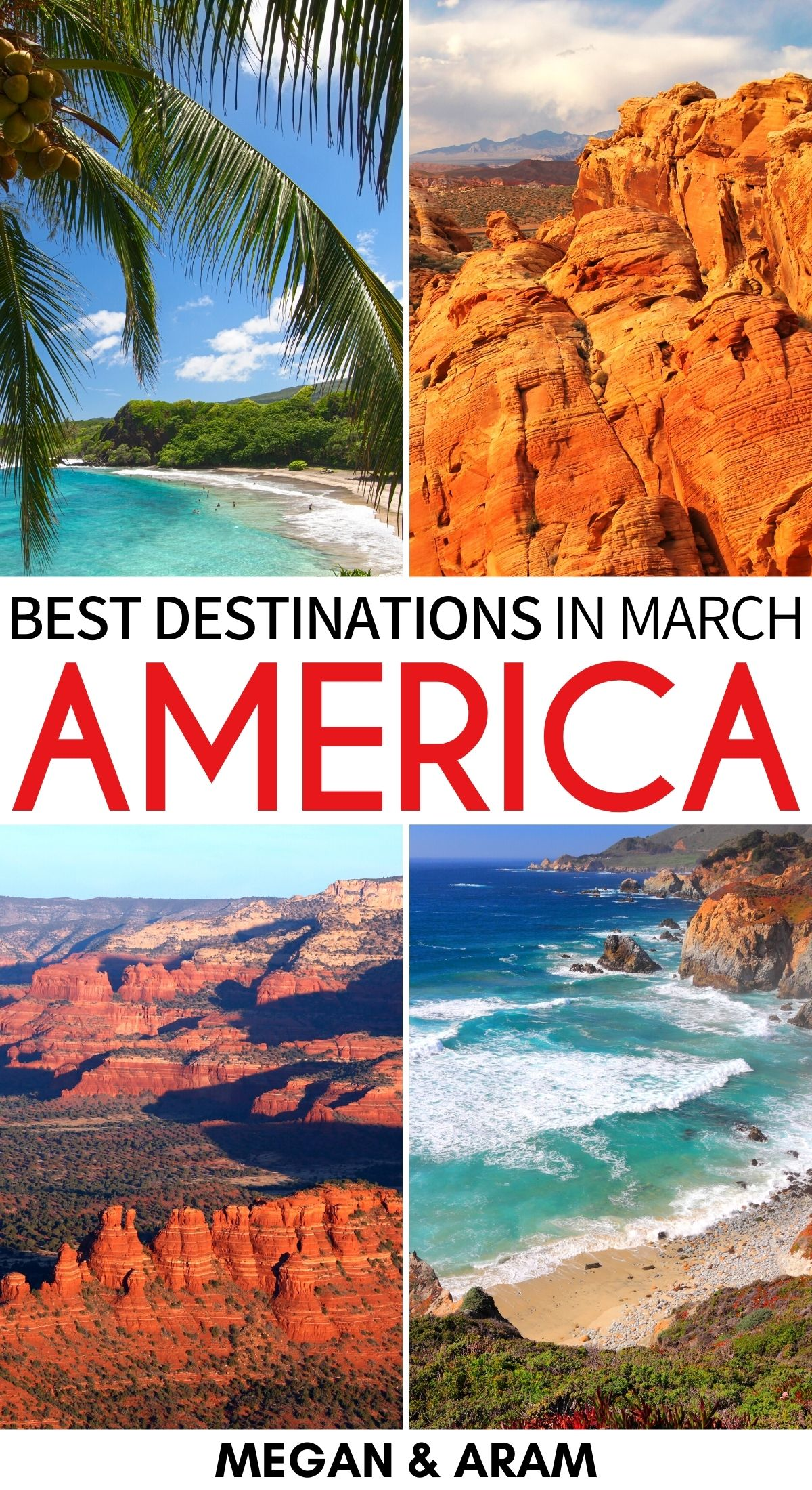 22 Best Places To Visit In March In The Usa Spring Tips In 2021 Cool Places To Visit Best States To Visit Best Places To Travel