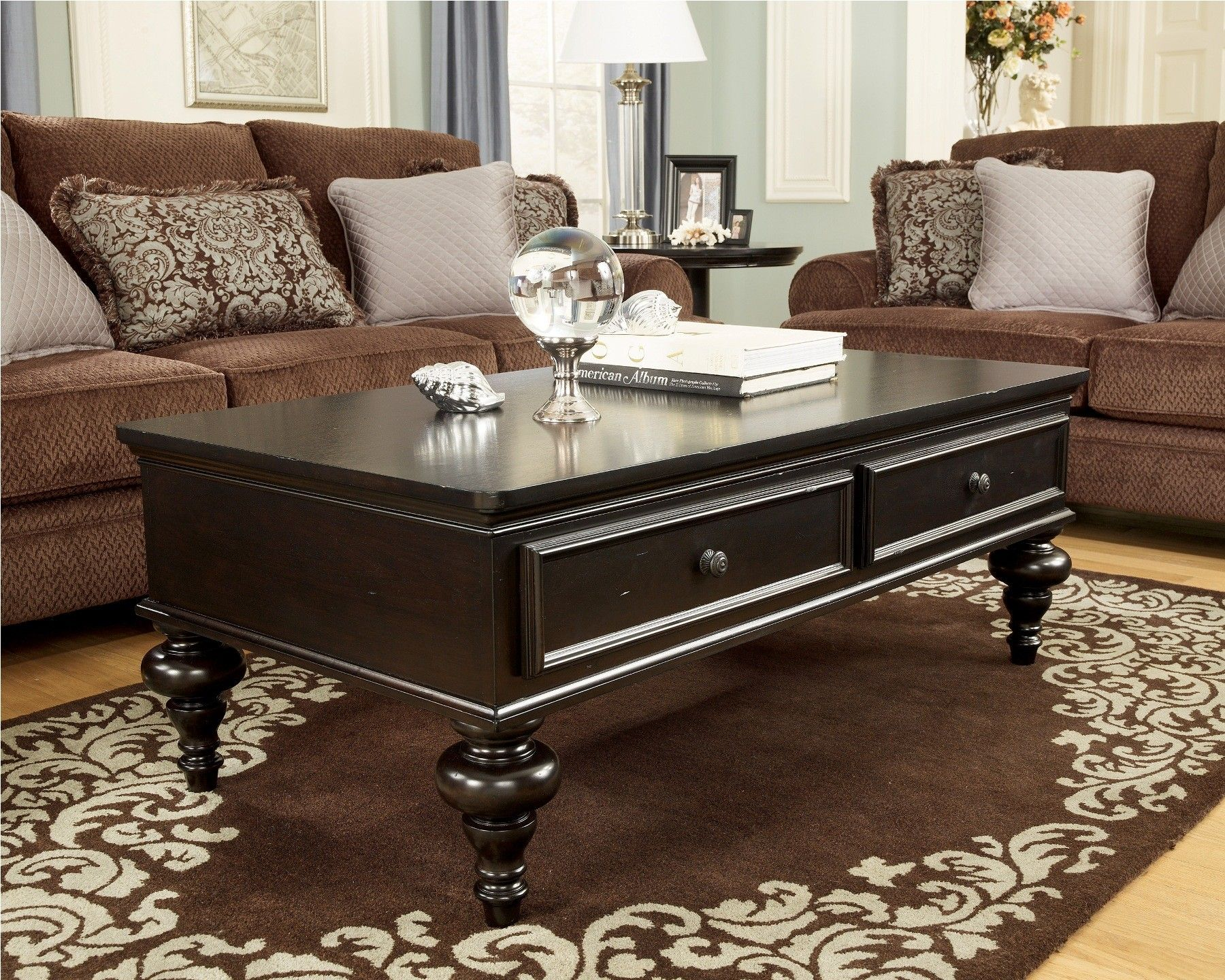 Ashley Millennium Furniture Coffee Table Ashley Furniture - Rectangular cocktail table by ashley furniture