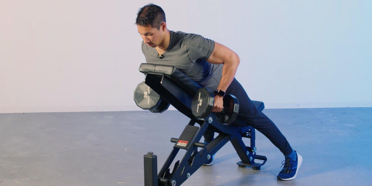 The Incline Bench Row Will Blow Up Your Back Incline Bench Fun Workouts Conditioning Training