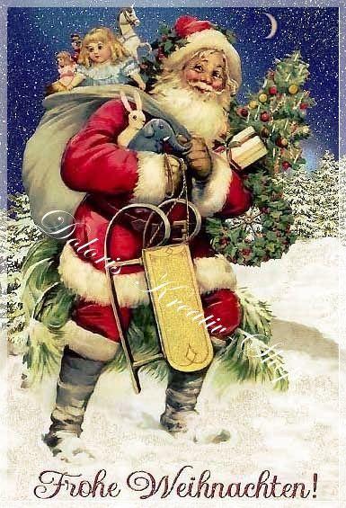 Bilder Weihnachten Nostalgisch.Applikationen Applikation Frohe Weihnachten Nostalgie Ein