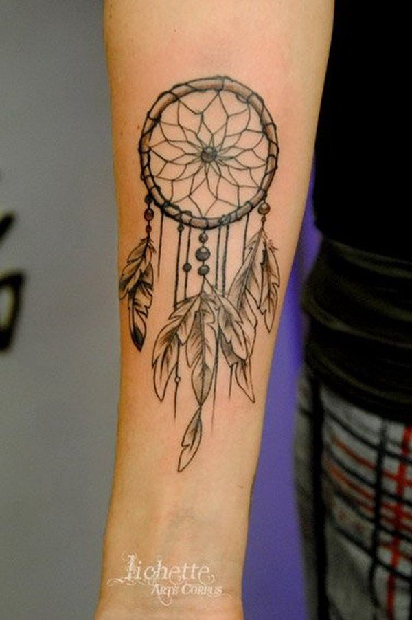 60 dreamcatcher tattoo designs tattoo ideen traumf nger. Black Bedroom Furniture Sets. Home Design Ideas