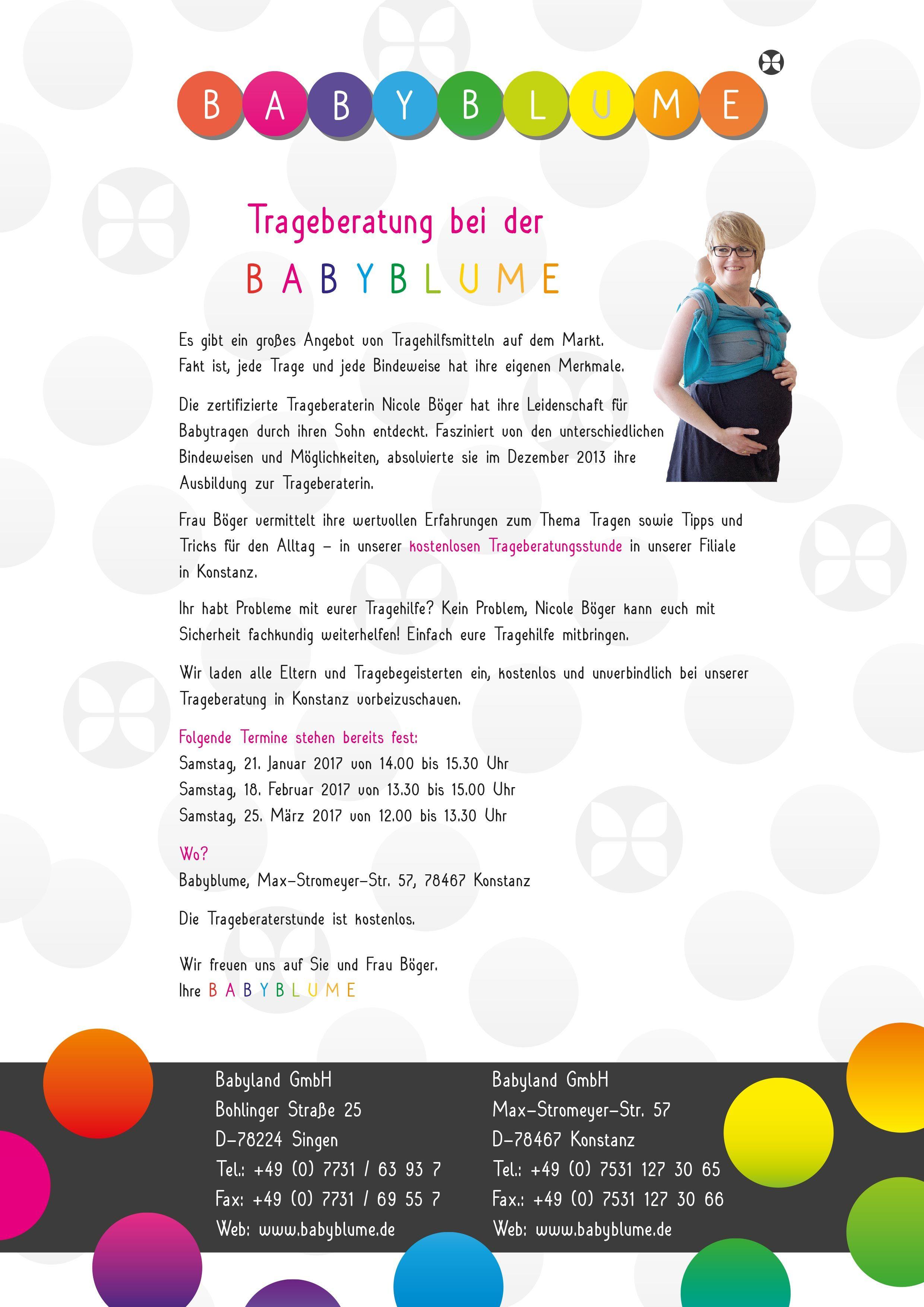 Konstanz Kinderladen trageberatung bei der babyblume in konstanz hier sind die ersten