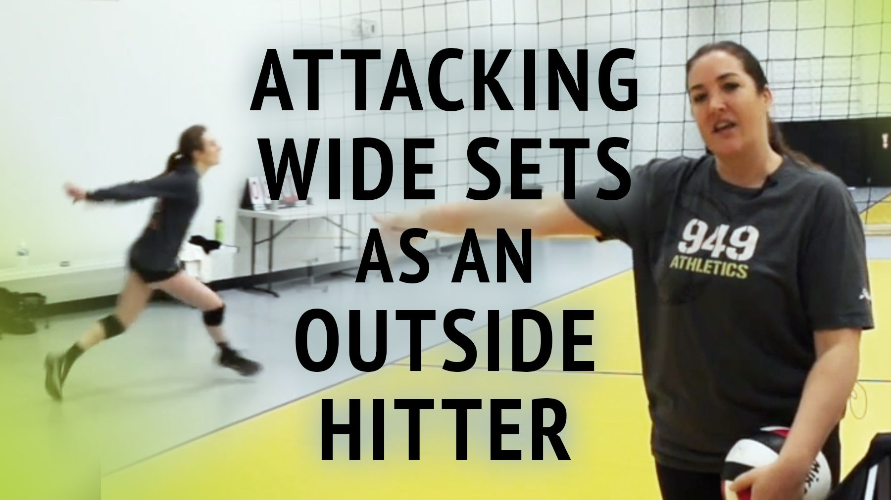 Dealing With The Wide Set As An Outside Hitter The Art Of Coaching Volleyball Coaching Volleyball Volleyball Training Volleyball Workouts