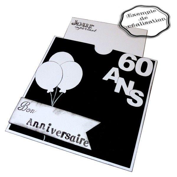 tutoriel carte d 39 anniversaire 60 ans tutoriels scrapbooking pinterest anniversaires. Black Bedroom Furniture Sets. Home Design Ideas