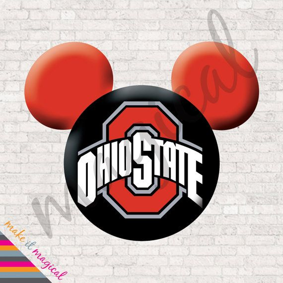 Ohio State Iron On Transfer Ohio State University Mickey Mouse