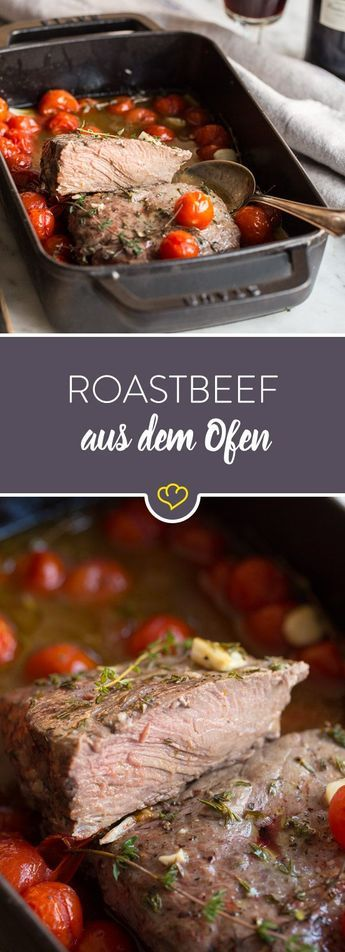 Photo of Christmas dinner without stress: oven roast beef with braised tomato …