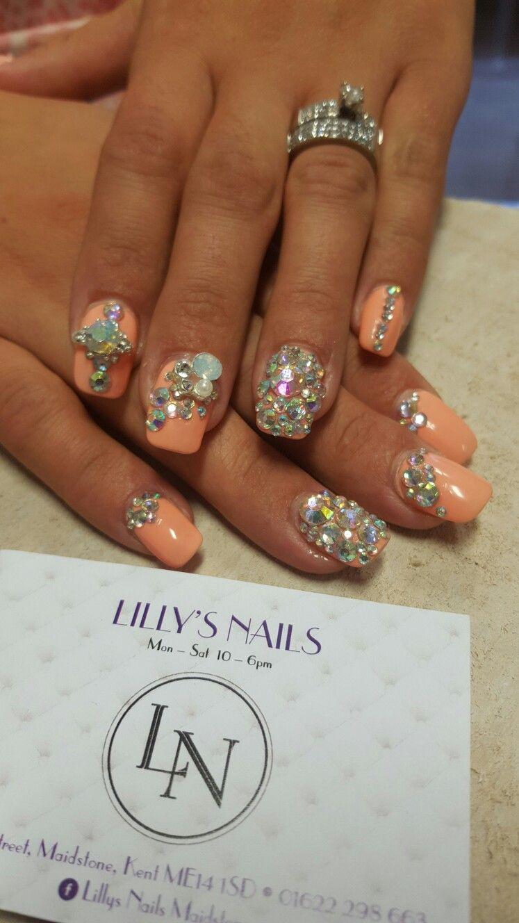 Short Nails. Diamonds. Blinging Nails   ooh la la   Pinterest