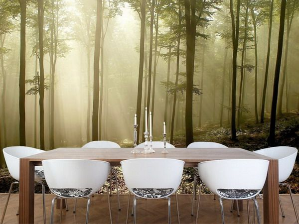 Nature Forest Wall Murals For Zen Dining Room Inspired