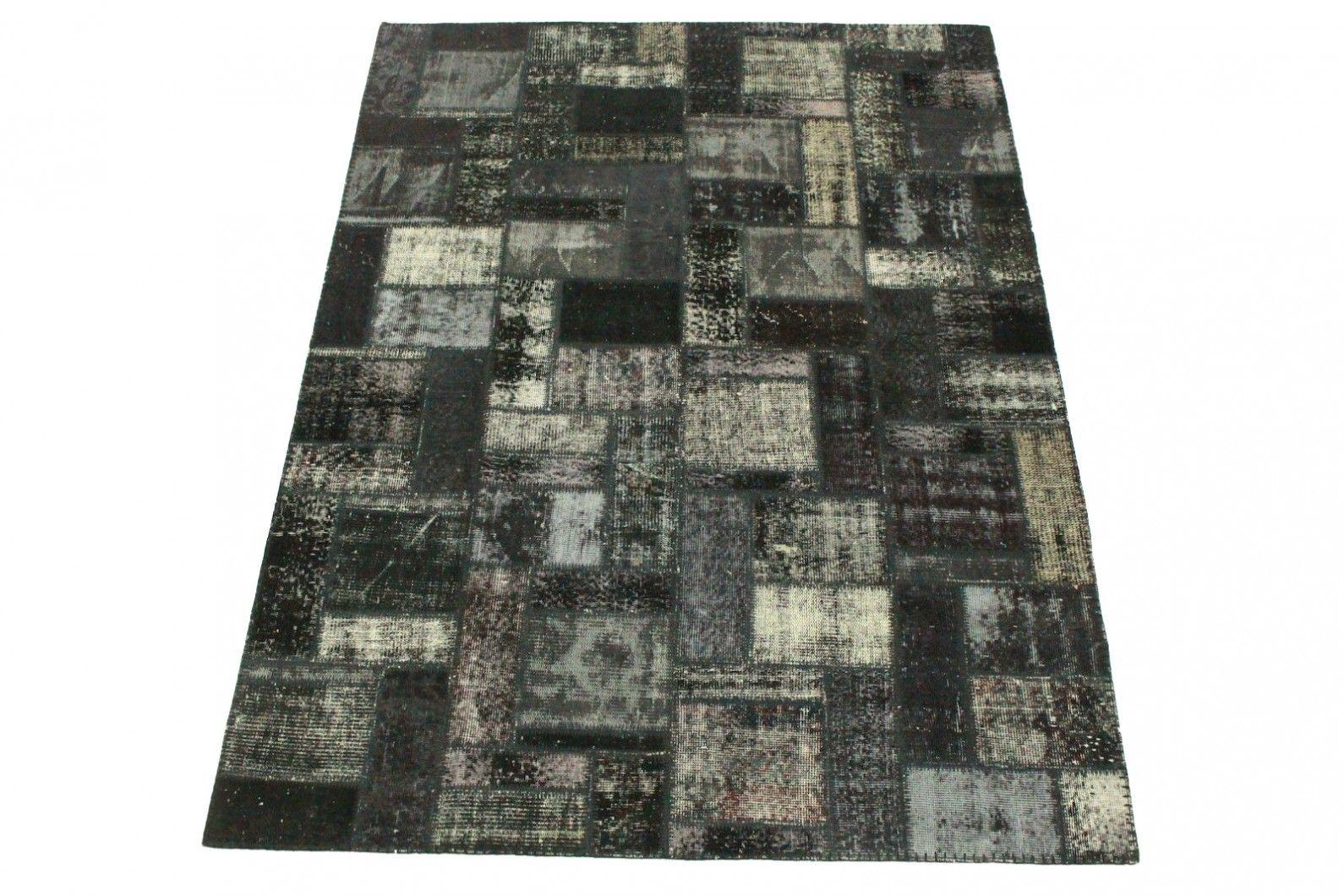 Patchwork teppich schwarz weiß in 240x180cm patchwork teppiche